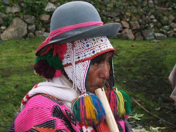 Q'ero flute player
